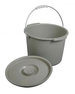 Medline Commode Bucket with Lid and Handle 6 Count