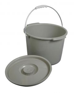 Medline Commode Bucket with Lid and Handle 1 Count