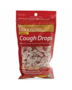 GoodSense Menthol Cough Drops, 5.8 mg Menthol, Cherry, Bag of 30