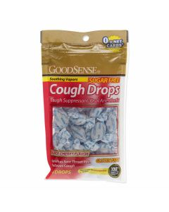 GoodSense Menthol Cough Drops, 5 mg Menthol, Sugar-Free Black Cherry, Bag of 25
