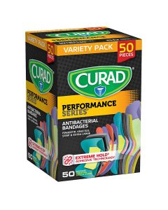 CURAD Performance Series Antibacterial Bandages
