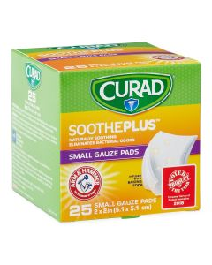 CURAD SoothePlus Gauze Pad ARM & HAMMER 2x2 25Ct CUR202225AHH by Medline