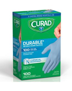 CURAD Powder-Free Nitrile Exam Gloves, Universal Size