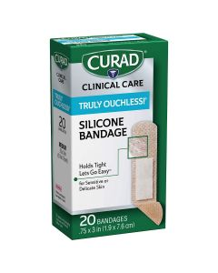 CURAD Silicone Flex Fabric Bandage 0.75x3 20Ct CUR5002V1H by Medline