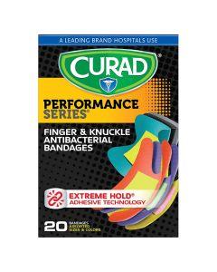 CURAD Antibacterial Bandage Finger/Knuckle 20Ct CUR5021H by Medline