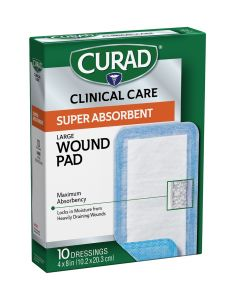 CURAD Clinical Advances Super Absorbent Polymer Wound Dressings