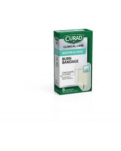 CURAD Soothe & Cool Clear Waterproof Hydrogel Bandages