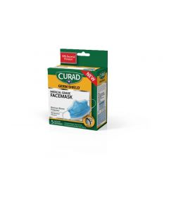 CURAD Medical Grade Germ Shield Max Barrier Mask 120Count