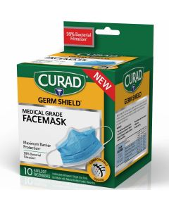 Germ Shield Medical Grade Face Mask, Case of 24 Boxes (10 Masks/Box)