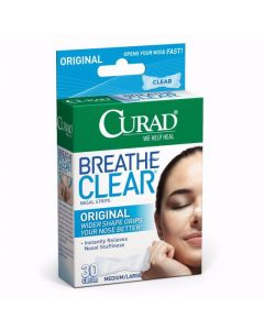 CURAD Breathe Clear Nasal Strips 30 Count CURNSO4430H by Medline