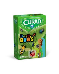 CURAD Busy Bugs Bandage, Assorted Sizes, Case of 480