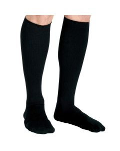Knee-High Compression Dress Socks with 15-20 mmHg, Black, Size D, Regular Length, 1 Pair