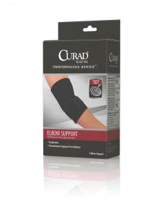 CURAD Neoprene Elbow Sleeves with Compression Strap