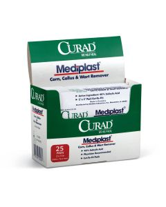 "CURAD Mediplast Wart Remover Pads 2""x3"" 150 Count"