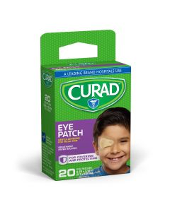 CURAD Adhesive Eye Patch, 2.25in x 3.12in, Beige, 20/box, Case of 24 Boxes