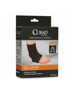 CURAD Performance Series Neoprene Open Heel Ankle Support