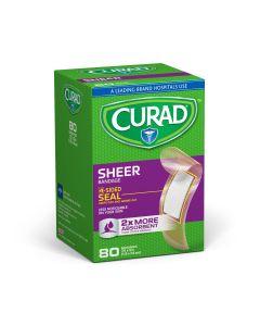 CURAD Sheer Adhesive Bandage 3/4x3 80Ct