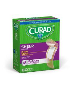 CURAD Sheer Adhesive Bandage 3/4x3 60Ct