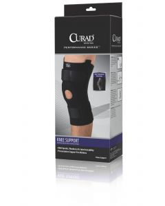 CURAD Knee Support, Neoprene, Hinged, U-shaped Support, Size Large, 15in - 16in