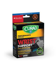 CURAD Performance Wraparound Wrist Support Microban 4Ct