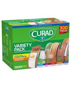 CURAD Adhesive Bandage Variety Pack, Box of 300 Bandages