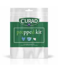 CURAD Prepped Kit 9-Piece PPE Pack, One Pack