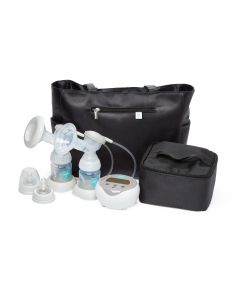 Medline Double Electric Breast Pump Plus Kit with 6 Bottles, Cooler Bag and Tote Bag