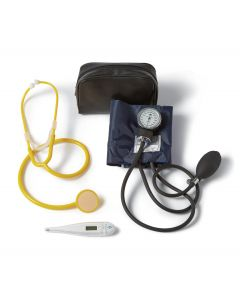 MRSA Protection Kit w/ Handheld Blood Pressure Unit, Disposable Stethoscope, and Digital Oral Thermometer, One Kit