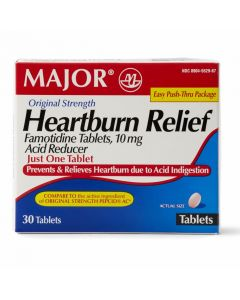 Famotidine Acid Reducer Heartburn Tablets