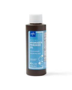 3% Hydrogen Peroxide 4oz Bottle 1Ct MDS098014H by Medline
