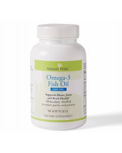 Omega-3 Fish Oil Softgels with Vitamin E 1000mg 90Ct
