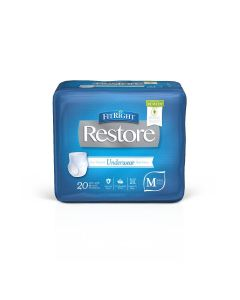 FitRight Restore Disposable Underwear w Remedy S/M 80Ct