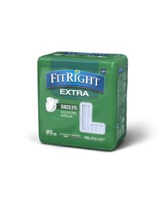 Medline FitRight Extra Disposable Brief L 80Ct