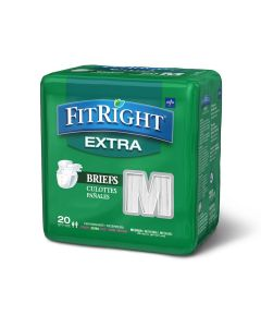Medline FitRight Extra Disposable Brief M 80Ct