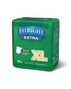 Medline FitRight Extra Disposable Brief XL 20Ct FITEXTRAXLGZ by Medline