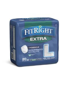 Medline FitRight Extra Adult Incontinence Underwear MSC13505A by Medline