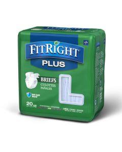 Medline FitRight Plus Disposable Briefs L 80Ct