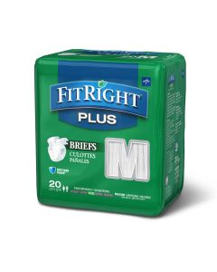 Medline FitRight Plus Disposable Briefs M 20Ct