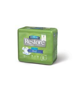 FitRight Restore Super Disposable Brief w Remedy L 80Ct