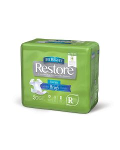 FitRight Restore Super Disp Brief w Remedy Reg 20Ct FITRESTORERGZ by Medline
