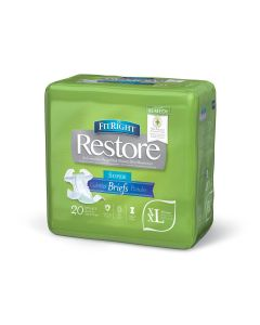 FitRight Restore Super Disp Brief w Remedy 2XL 20Ct FITRESTORXXLZ by Medline