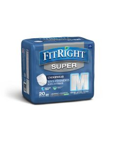 Medline FitRight Super Disposable Underwear M 80Ct
