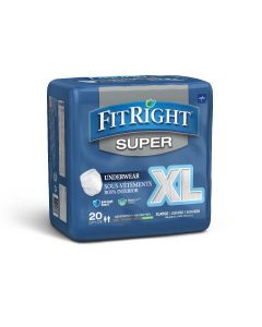 Medline FitRight Super Disposable Underwear XL 80Ct
