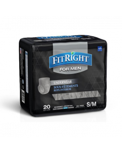 Medline Men's FitRight Underwear Heavy Absorb S/M 80Ct FIT23MSM by Medline