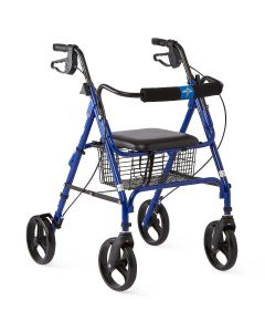 Medline Basic Rollator with 8-Inch Wheels Blue 1Ct
