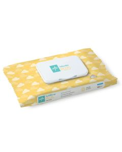 Medline Unscented Baby Wipes Plus, 7.9x5.9 Inches, 40 Wipes/Pack, One Pack
