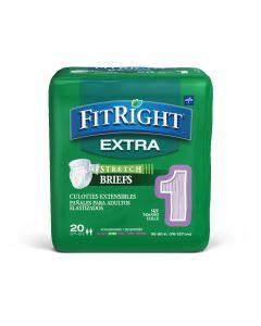 Medline FitRight Extra Stretch Disp Brief M/Reg 20Ct