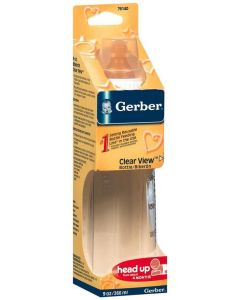 Gerber Clear View Baby Bottle 9oz 1Ct