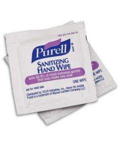 Purell Hand Sanitizing Wipes, Alcohol Formula, Individually Wrapped, Case of 1000