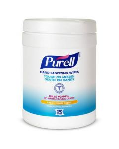 Purell Wipes with Benzalkonium Chloride, Sterile, One Can (270 Count)